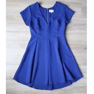 Wilfred Blue V-neck Dress